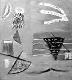 Shore. Bird over the sea. 2001. 94x83 |canvas.oil|