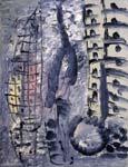 Vertical lines. 1994. 80x60 |canvas.oil|