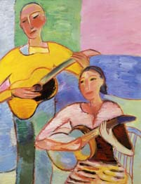 Two guitars. 1997. 116x89 |canvas.oil|