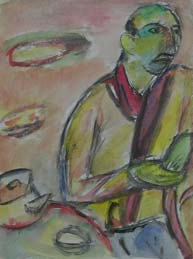 Portrait of Ivery. 1996. 48,5x36 |paper.watercolor.charcoal|
