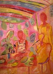 Music lesson. 1995-1997. 210x150 |canvas.oil|