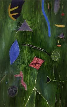 Big green stream. 1990. 240x150 |canvas.oil|