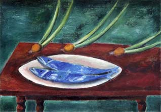 Two fishes and an onion. Dance. 1979-80. 70x100 |canvas.oil|