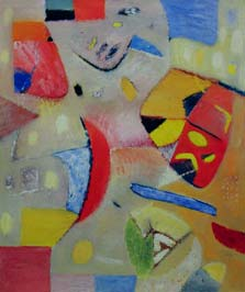Red composition. 1989. 180x150 |canvas.oil|