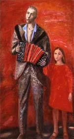 Stroll with a father. 1980. 169x91 |canvas.oil|